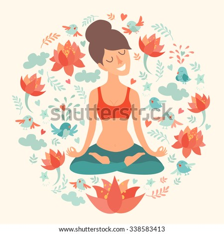 Vector Images Illustrations And Cliparts Yoga Pose Lotus Position