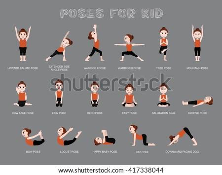 yoga poses in english