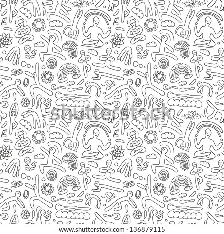 yoga seamless vector pattern