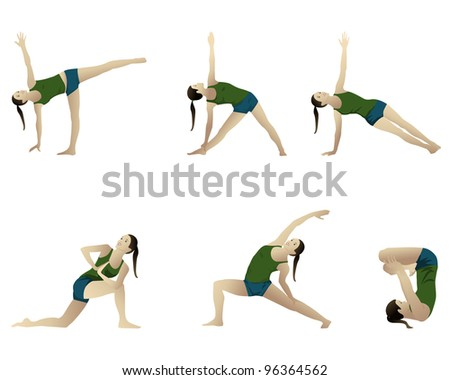 Yoga series 6 positions.