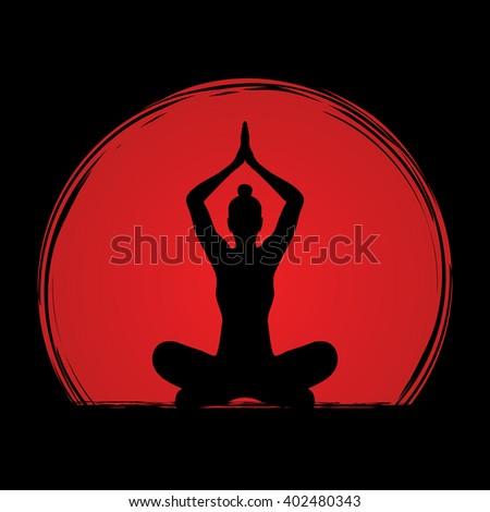 yoga sitting pose designed on