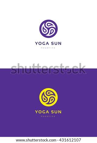 yoga sun logo template