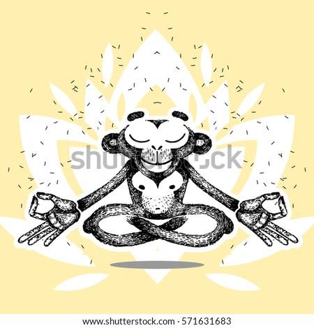 yoga teacher in lotus posture