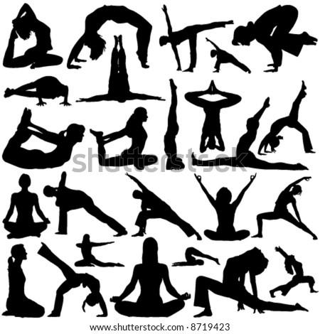 yoga vector 2 - stock vector