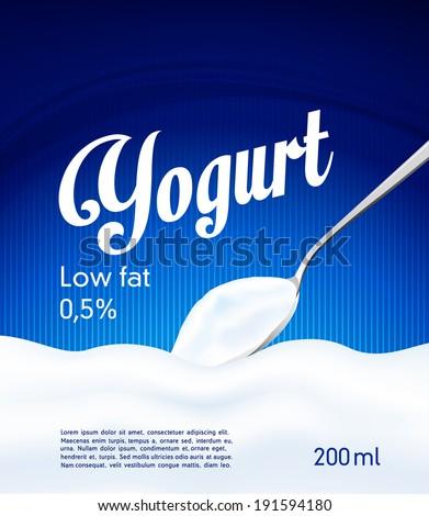 Yogurt cream wave blue background milk