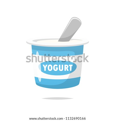 Yogurt vector isolated Stock fotó ©