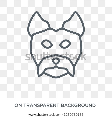 YORKIES dog icon. Trendy flat vector YORKIES dog icon on transparent background from dogs collection. High quality filled YORKIES dog symbol use for web and mobile