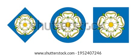 Yorkshire flag icon set. isolated on white background  Stock fotó ©
