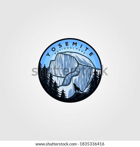 yosemite logo badge vintage
