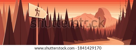 yosemite national park scene