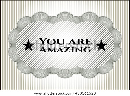 You are Amazing poster or card
