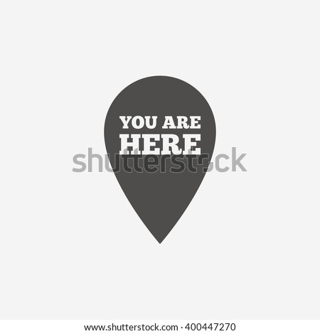 you are here icon sign you are