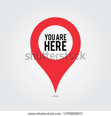 You Are Here Location Pointer Pin Stock photo ©