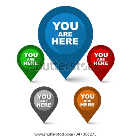you are here  pointer you are
