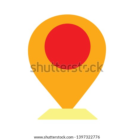 You are here sign icon. Info map pointer with your location. Abstract shape. Gradient map pointer icon. Flyer liquid banner. Vector