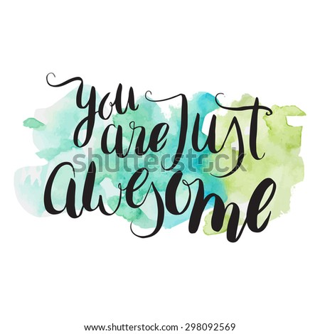 you are just awesome hand