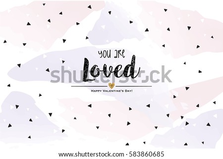 you are loved for me card with