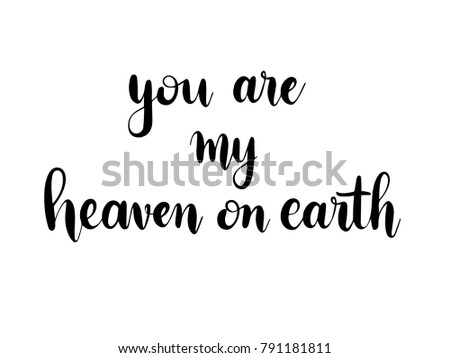 you are my heaven on earth