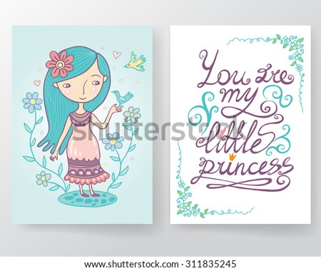you are my little princess card