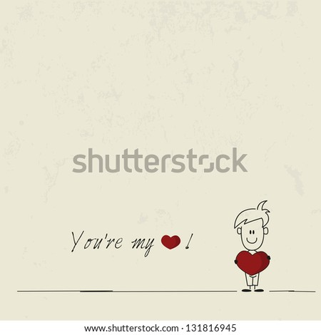 you are my love card