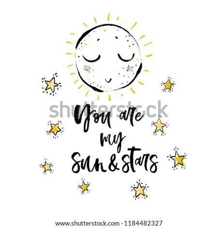 you are my sun and stars text