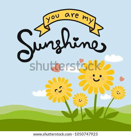 you are my sunshine word and