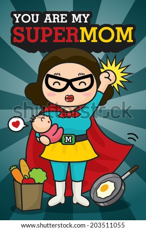 you are my supermom card
