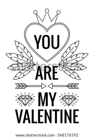 you are my valentine vector