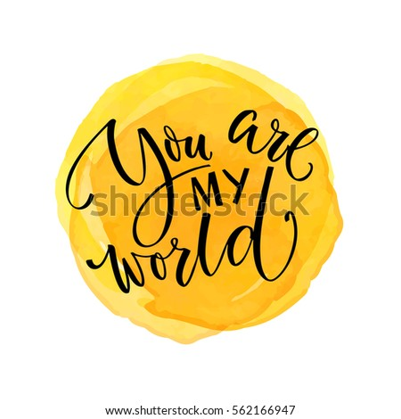 you are my world inspirational