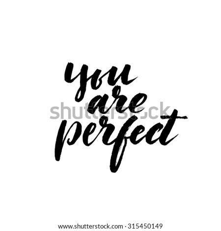 you are perfect card ink