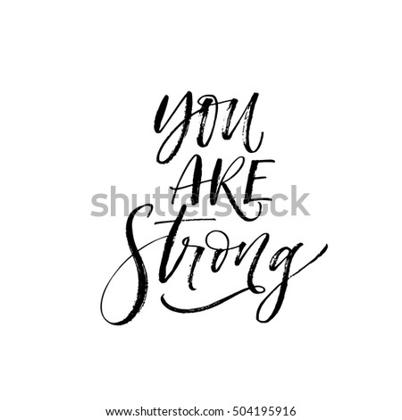 you are strong card hand drawn