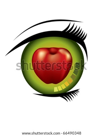 You Are The Apple Of My Eye. Stock Vector 66490348 : Shutterstock
