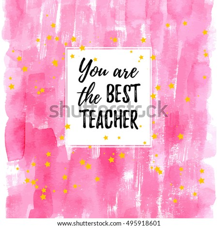 you are the best teacher label