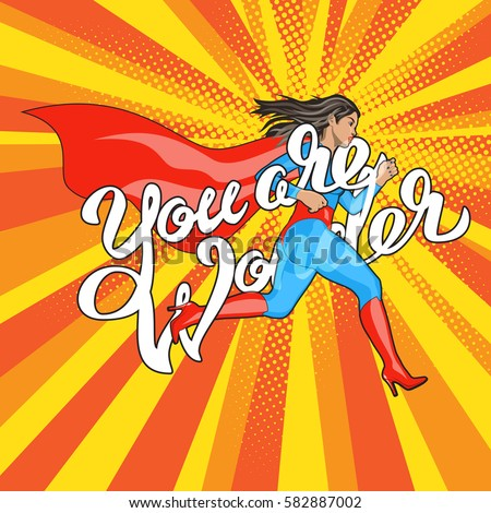 you are wonder   hand lettering