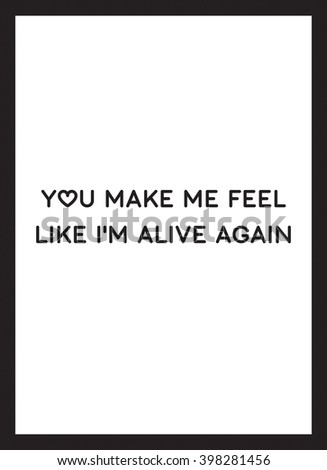 you make me feel poster vector