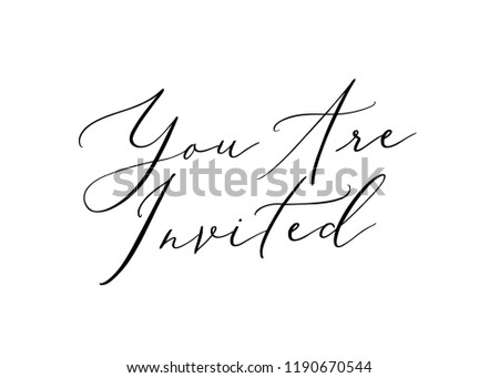 You're Invited Vector Text Background