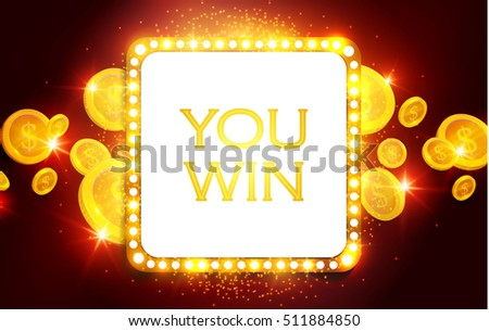 you win shining banner with