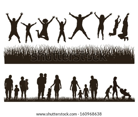Young active family . Concept. Set. stock photo