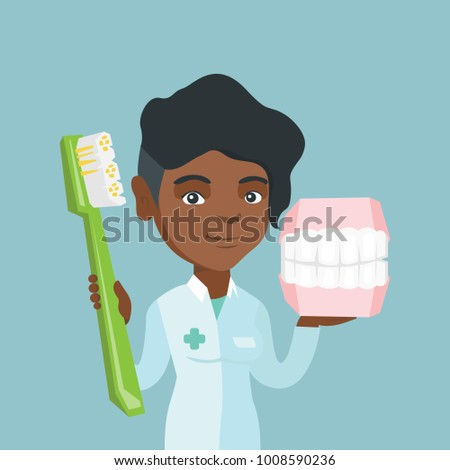 young african american dentist