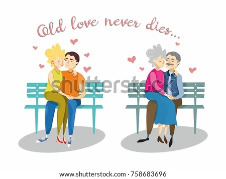 young and old coule in love