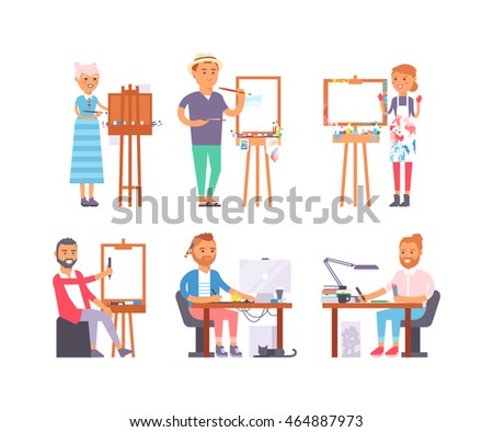 young artist creative people in