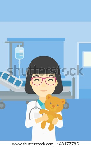 young asian female pediatrician