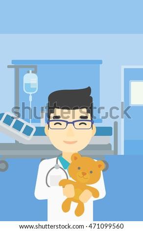 young asian male pediatrician
