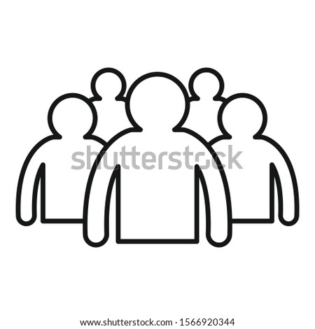 Young audience icon. Outline young audience vector icon for web design isolated on white background