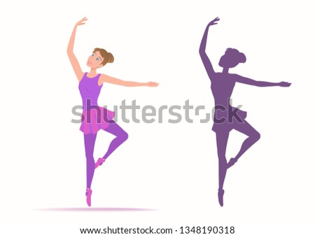 young ballerina in a purple