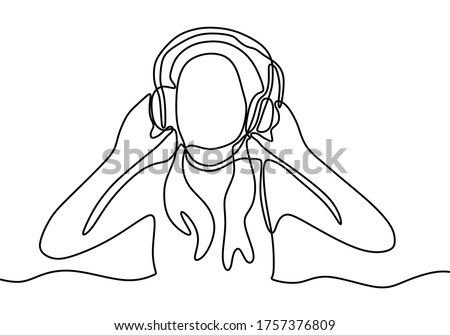 young beautiful girl listening