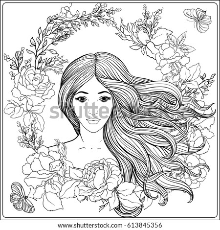Vector Images Illustrations And Cliparts Young Beautiful Girl With