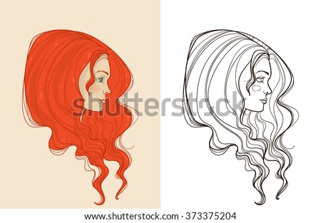 Vector Images Illustrations And Cliparts Young Beautiful Red