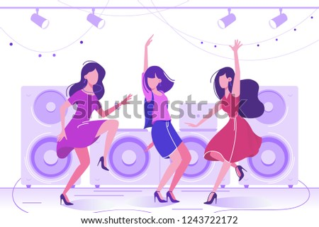 young beautiful woman dancing