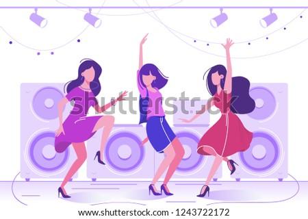 young beautiful woman dancing